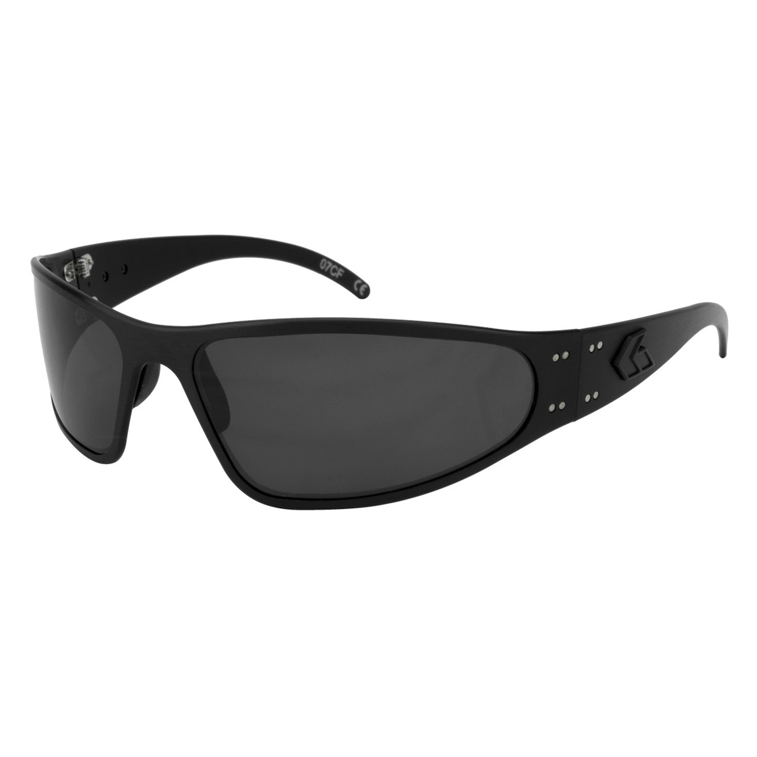 Gatorz Wraptor Blackout Sunglasses with Polarized Lens