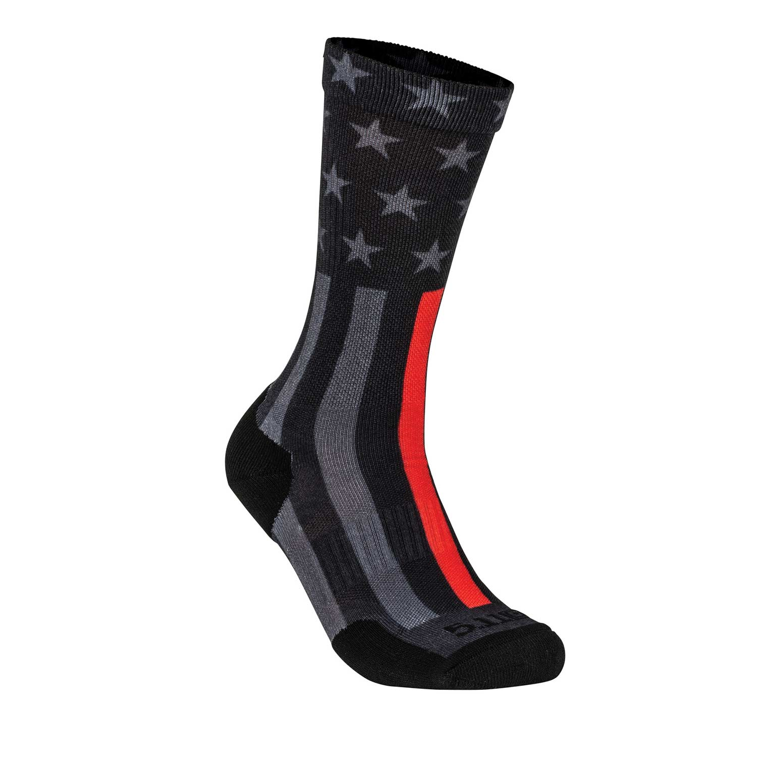5.11 Sock and Awe Thin Red Line Crew Sock