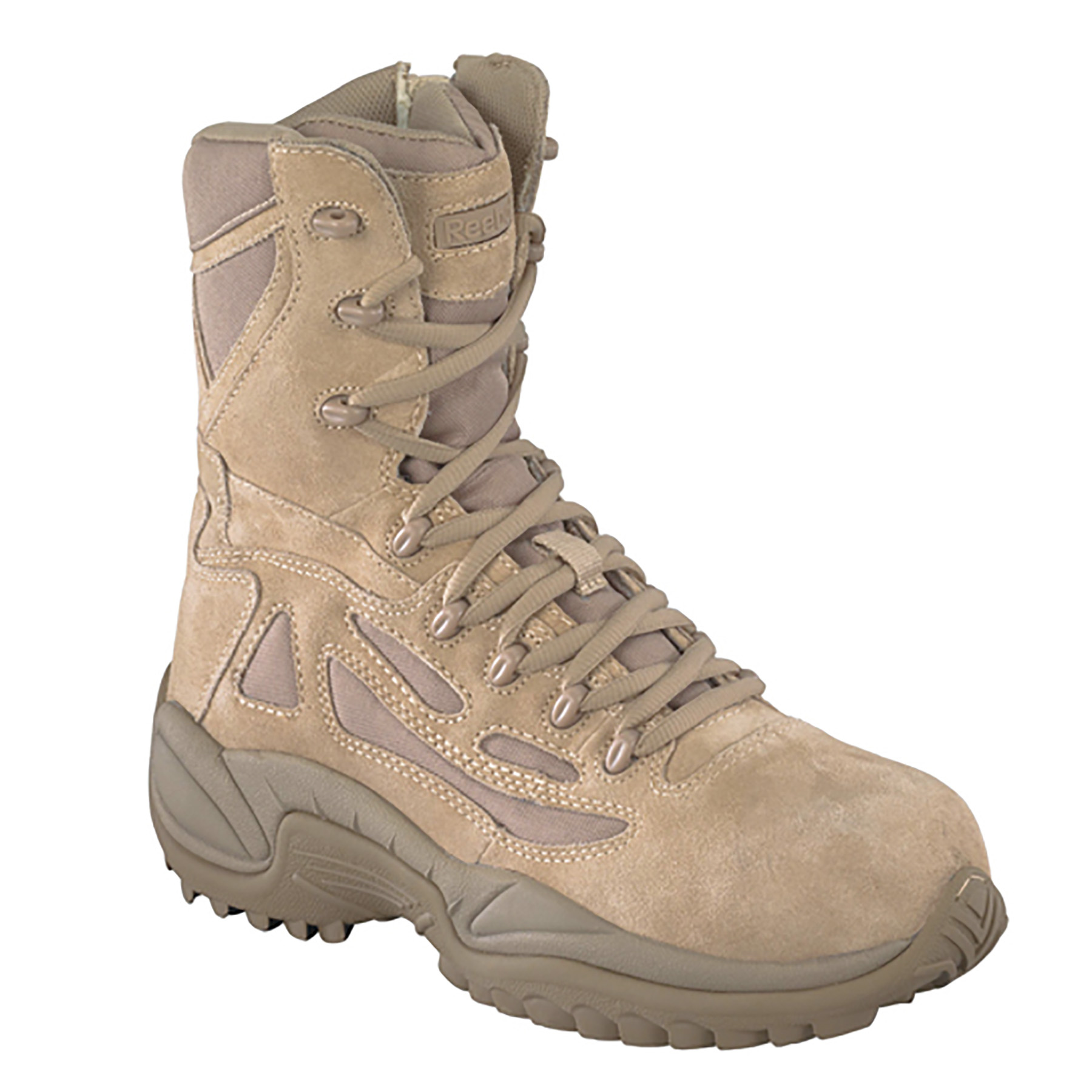 Womens Reebok Desert Tan Soft Toe Boots