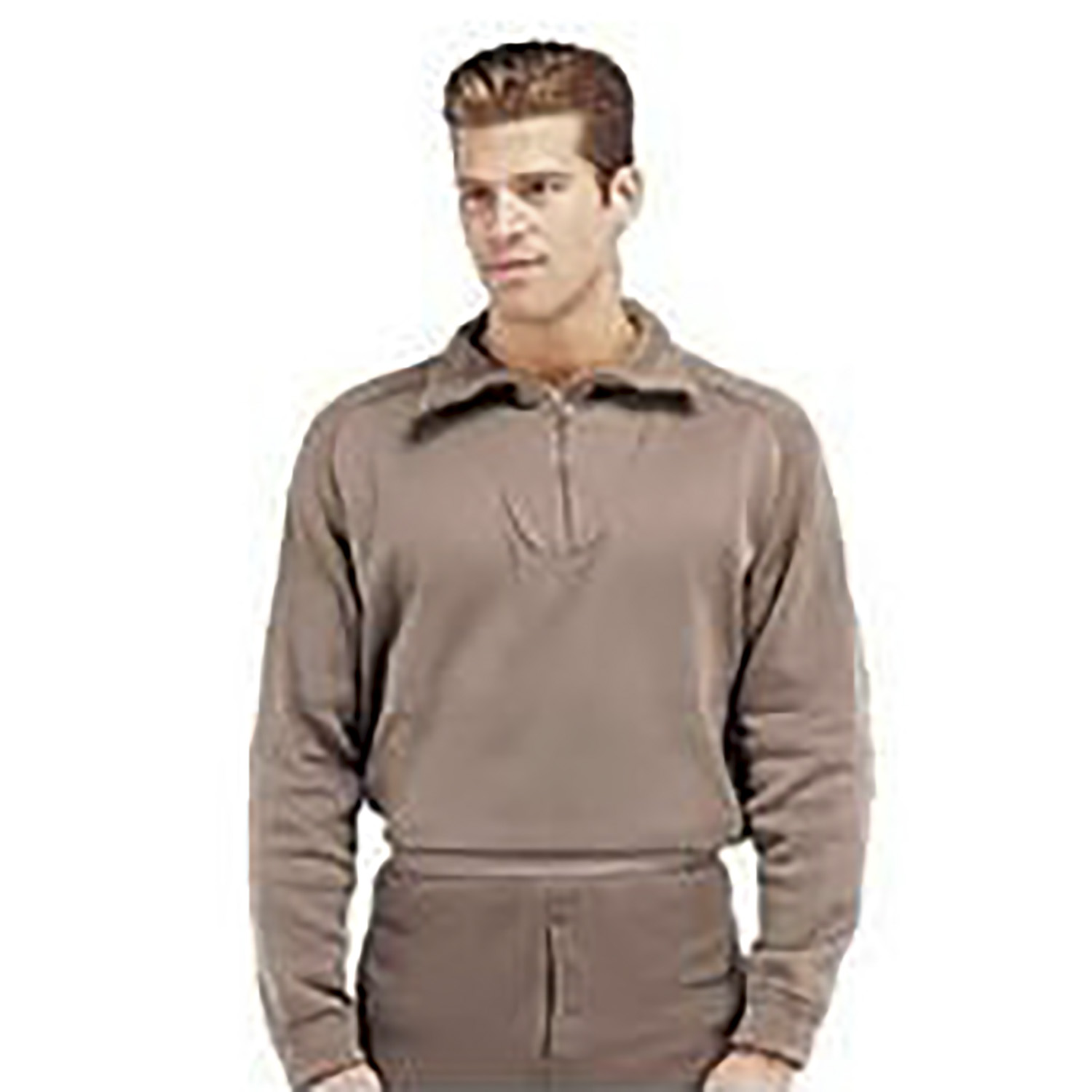 Brown Extreme Cold Weather Polypropylene Base Layer Top