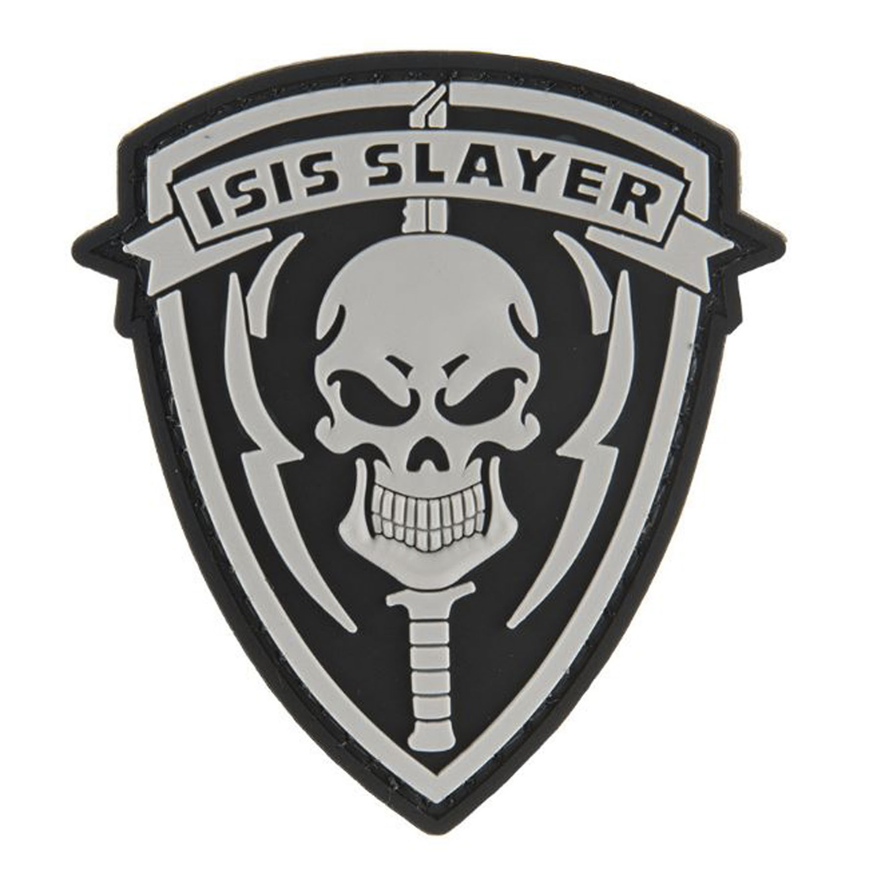 G-Force ISIS Slayer Knife and Skull PVC Morale Patch