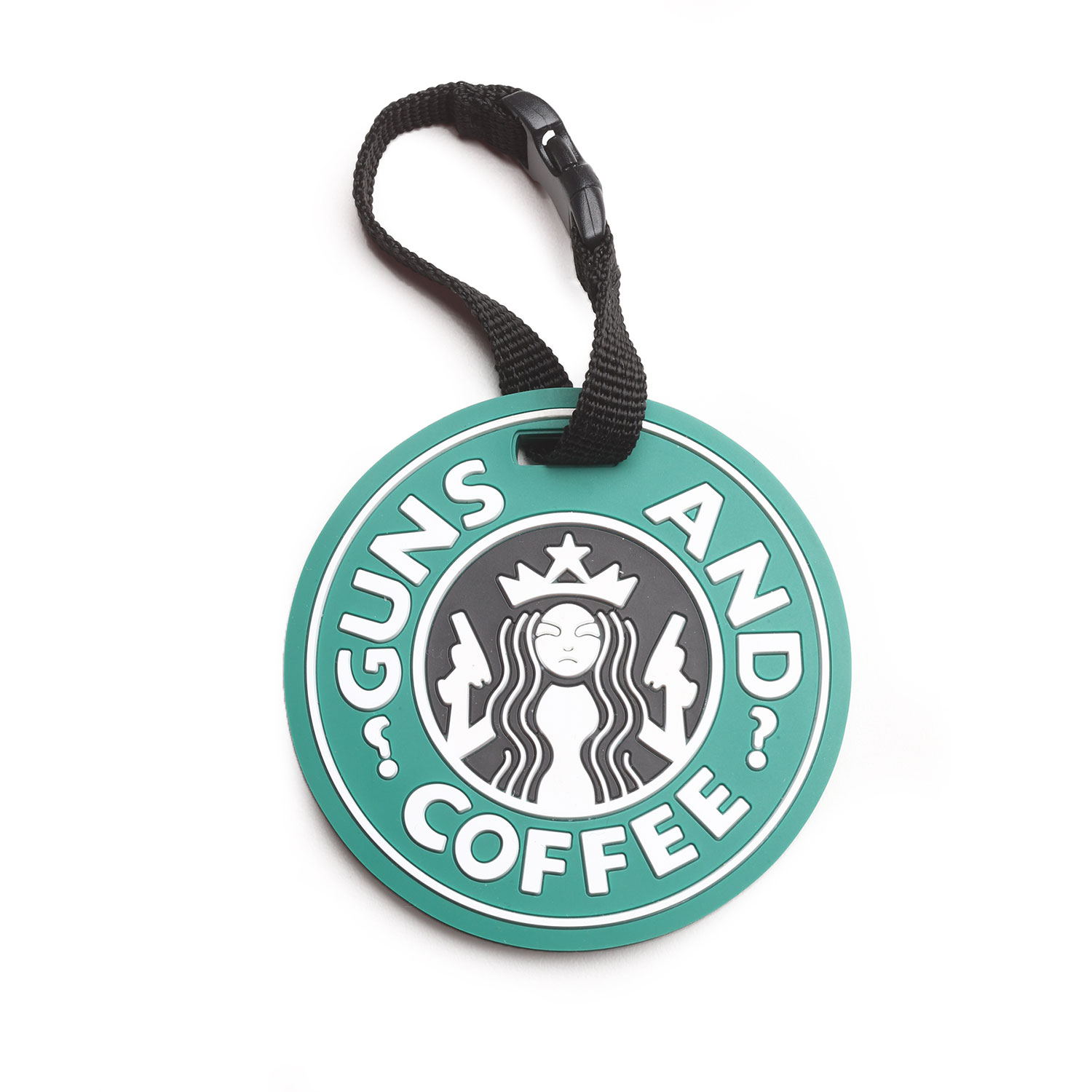 "5ive Star Gear ""Guns and Coffee"" Luggage Tag"